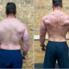 images of strong man before and after online nutrition coaching