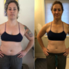 images of woman before and after online nutrition coaching