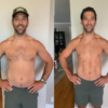 images of man before and after online nutrition coaching